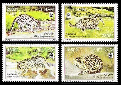 SALE Vietnam WWF Fishing Cat 4v SC#3390-93 MI#3553-56