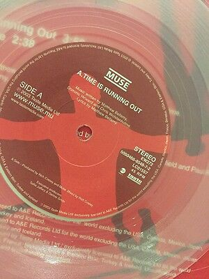 """MUSE 'TIME IS RUNNING OUT' 7"""" CLEAR VINYL SINGLE 45 LP Single Rock"""