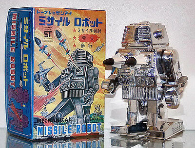 Tps Missile Robot Mechanical Wind Up Toplay Japan Missile Firing