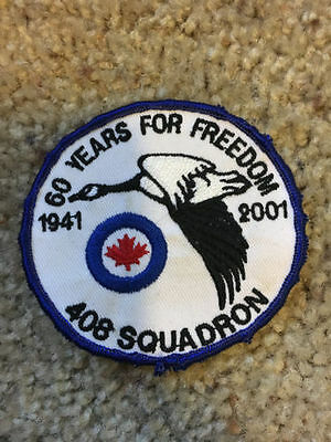 RCAF CAF Canadian 408 Squadron 60th Anniversary Crest Patch Badge 3""