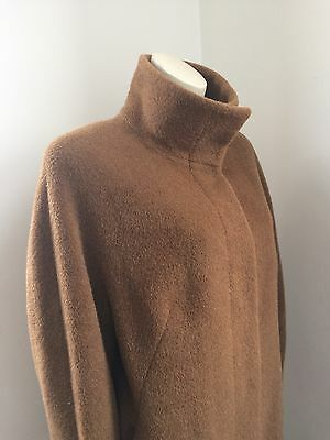Vintage M&s Tan Full Length Teddy Bear Coat Size 14 16 ?