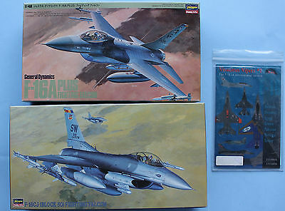 1/48 Hasegawa F-16CJ & F-16A Plus with Zotz Vivacious Vipers decals