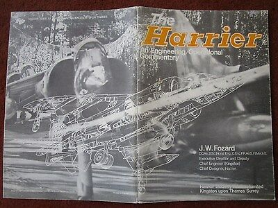 Plaquette Hawker Siddeley Aviation Harrier Engineering / Operational Commentary