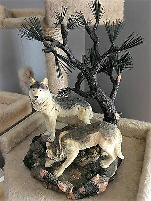Large Wolf resin Figurine Looks like by Country Artists