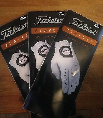 3 Brand New TITLEIST PLAYERS golf gloves MEDIUM - fits left hand