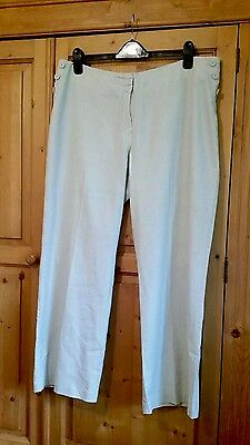 M&S linen blend cropped trousers size 18