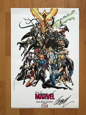 Women of Marvel print Signed by J Scott Campbell