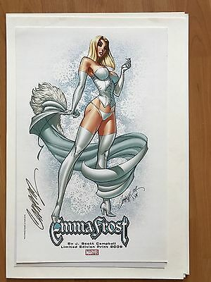Emma Frost Print Signed by J Scott Campbell