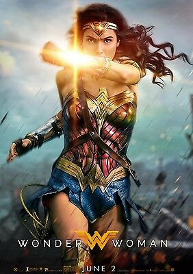 Wonder Woman 2017 Movie Gal Gadot A6+A4+A3+Super A3+Framed Print Just Released!