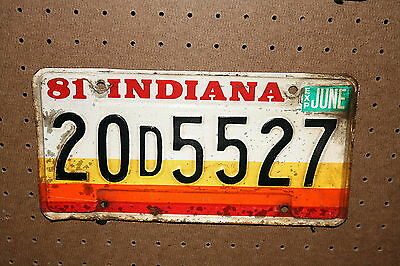 1981 - Indiana - 20 D 5527 - License Plate