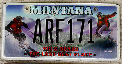 """Montana """"Ski and Board the Last Best Place"""" License Plate"""