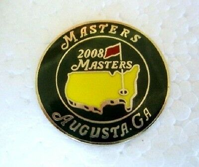 "2008 Us Masters (Trevor Immelman's Only Masters Title) 1"" Coin  Ball Marker"