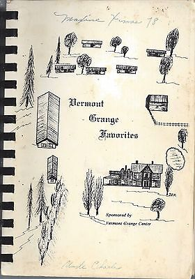 Montpelier Vt 1979 Vermont Grange Favorites Cook Book Granger Recipes State-Wide