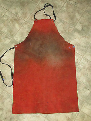 Vintage LEATHER WELDING APRON Blacksmith Welders Iron Worker Farrier