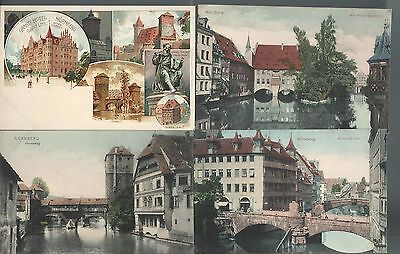 Lot of 11 NURNBERG Germany pre Great War WWI Postcards Early 1900s