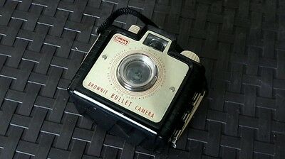 Vintage 1950s Kodak Brownie Bullet Camera -Bakelite Body With Strap