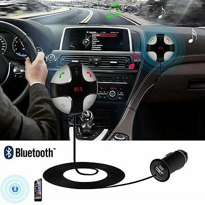 FM Transmitter Bluetooth 3.0 Handsfree Car Kit MP3 Player USB Charger Magnetic