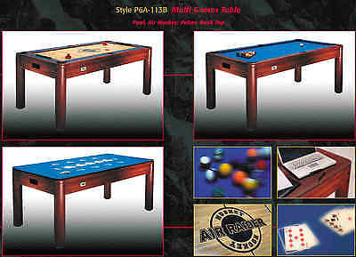 Casino Games Air Hockey Poker Dining Pool Card Table or Desk 6ftx3ft Ex showroom