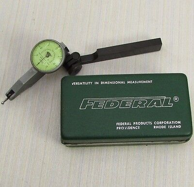 """FEDERAL TESTMASTER T-2  0.0001"""" resolution TEST INDICATOR W/CASE; Machinist tool"""