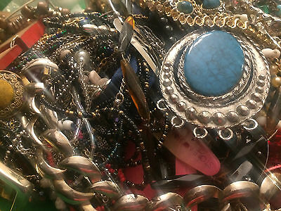 6 Lbs of Junk Jewelry for Repairs, Parts or Crafts Vintage to Now Lot #B