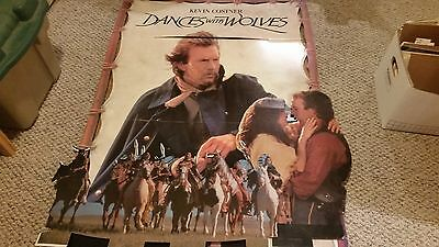 Dances with Wolves Original Theatrical Movie Standup/Standee Kevin Costner 1990