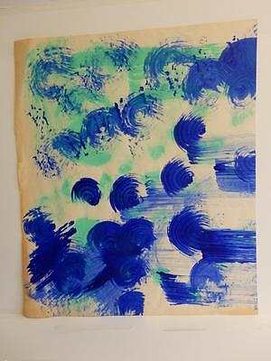 OLD PAINTING abstract DESIGN signed susan beazley