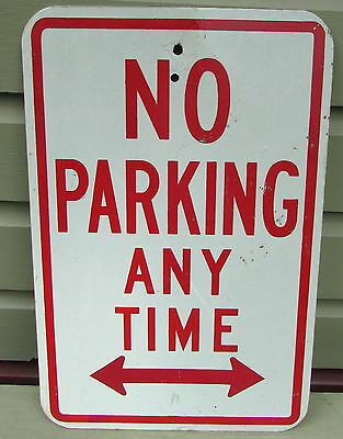 "AUTHENTIC NO PARKING METAL STREET SIGN 12"" x 18"""