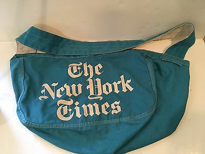 """VTG New York Times Newspaper Carrier Newsboy Delivery Bag """"A Pollak's Product"""""""