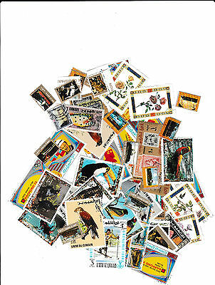 United Arab emeriates 52 mint & cancel stamps