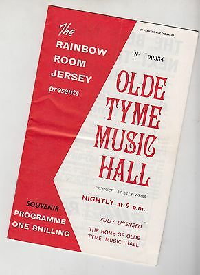 JERSEY Channel Islands Music Hall Theatre BILLY WELLS Hal BRYAN Pearl SHAW
