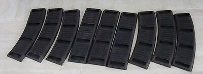 American Flyer Curved & Straight BLACK Rubber Roadbed-Narrow Ties-Total 9 pcs.