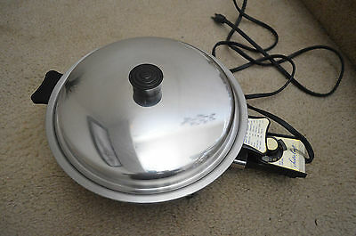 Lustre Craft Rare Electric Skillet  Model: USA. 7205E Tested and Working Great!