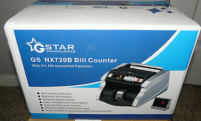 G-Star Technologies Money Counter With UV, MG Counterfeit Bill Detection NX720B