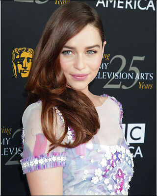Emilia Clarke 8 X 10 Photo Daenerys Targaryen Game Of Thrones Attractive Actress