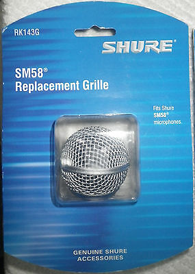 Shure RK143G SM58 Replacement Grille Shure Mic Grill SM 58 Screen Brand New
