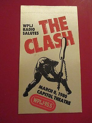 Wplj 95.5 The Clash March 8, 1980 Capitol Theatre Passaic Cloth Sticker Patch