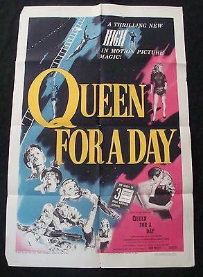 QUEEN FOR A DAY movie poster DORTHY PARKER JACK BAILEY Original 1951 One sheet