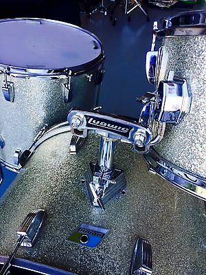 "Ludwig 1970's silver Sparkle Drum Kit 12"", 16"", 22"" FREE SOFT CASES"