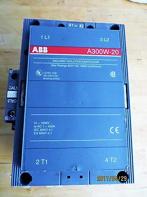 """ABB A300W-20 400 amp Welding isolation contactor 120 volt coil """"used"""""""