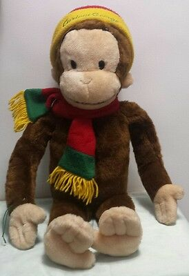 "Curious George 2001 Macys Large 24"" Plush Monkey stuffed animal toy"