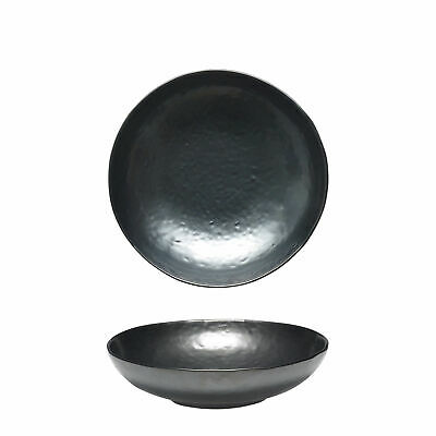 12x Tablekraft Vilamoura Metallic Graphite Round Bowl Flared 220x53mm