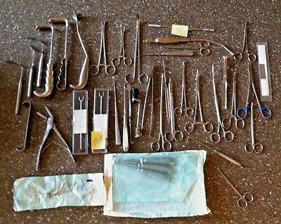 40 Stainless Surgical Hand Tools Retractors Forcep Scope Rasp Curettes + MORE!