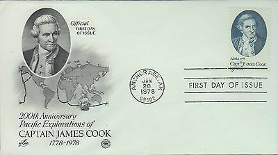1978 - Fdc - 200Th Anni - Pacific Explorations Of Captain James Cook - Anchorage
