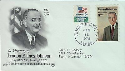 1978 - Fdc - In Memory Of - Lyndon Baines Johnson
