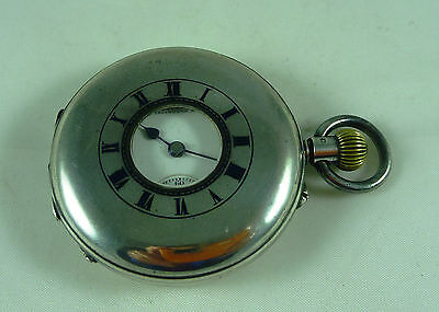 Fabulous Antique Hallmarked Sterling Silver Pocket Fob Watch Jays Lond 1913