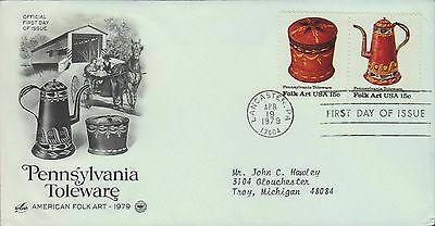 1979 - Fdc - Pennsylvania Toleware - American Folk Art 1979 - Version #2