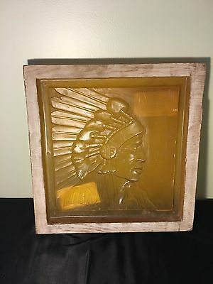 Native American Indian Chief Mold, Large Rubber Mold, Picture Etching