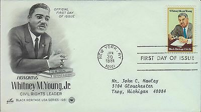 1981 - Fdc - Honoring Whitney M Young Jr - Civil Rights Leader