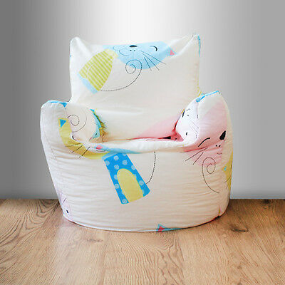 Children's Beanbag Chair Cat Nap Kittens Kids Bedroom Furniture Seating Bean Bag