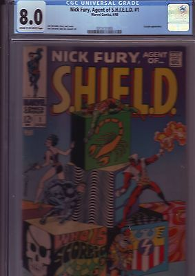 NICK FURY Agent of SHIELD #1 CGC 8.0 VFINE (1968) STERANKO ART MARVEL KEY COMIC